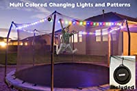 トランポリンミュージック&ライト 楽しい年中 屋外ゲーム用おもちゃアクセサリー 男の子 女の子 大人に最適 安全ネットエンクロージャー ツールフリー