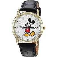 DISNEY Men's Mickey Mouse' Quartz Metal Casual Watch, Color:Black (Model: WDS000404)