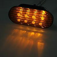 DADANGSH VW Jetta Passat用LEDサイドマーカーターンライトストロボライト LEDカーライト (Color : Amber)