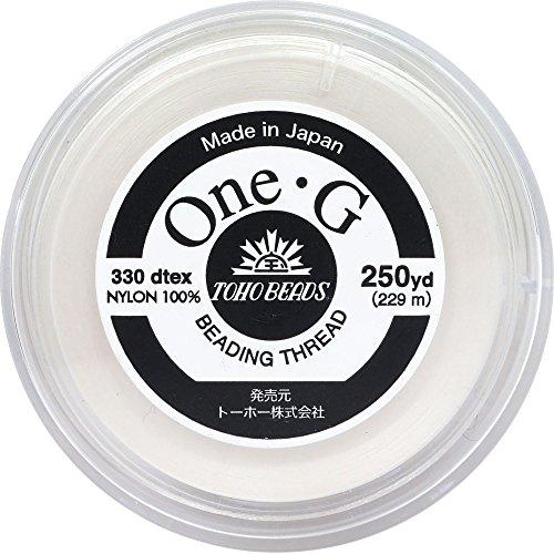 One・G ビーズステッチ専用糸 得用大巻 #40 白 約229m PT-1