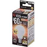 アイリスオーヤマ LED電球 E17口金 60W形相当 電球色 広配光タイプ 密閉形器具対応 LDA8L-G-E17-6T2