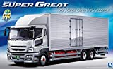 青島文化教材社 1/32 ヘビーフレイトシリーズ No.18 三菱ふそう 2010 スーパーグレートFU フルハーフ冷凍車 プラモデル