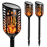 Lantoo Outdoor, Waterproof Flickering Torches Solar Dancing Flames Landscape Decoration Lighting, Dusk to Dawn Auto On/Off W/ 3 Working Mode Garden Patio Driveway (2 Pack) 141[並行輸入]