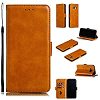 Abtory Galaxy S8 Plus Wallet Case,Galaxy S8 Plus for Women,[Kickstand Feature] Flip Folio Leather Wallet Case with ID and Credit Card Pockets Wallet Case for Samsung Galaxy S8 Plus Yellow