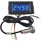 DIGITEN DC 12V 24V 4 Digital Blue LED Counter Meter up Down+Hall Proximity Switch Sensor