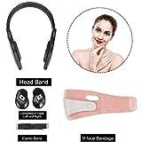顔の持ち上がる細くベルト、薄い顔のコレクターVライン顔のマスクのあごの頬リフトアップスリムベルトのための頬骨(Pink Belt)