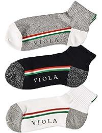 ヴィオラルモア(VIOLA RUMORE) 靴下 ソックス メンズ セット ブランド くるぶし ビジネス ショート おしゃれ FREE E柄