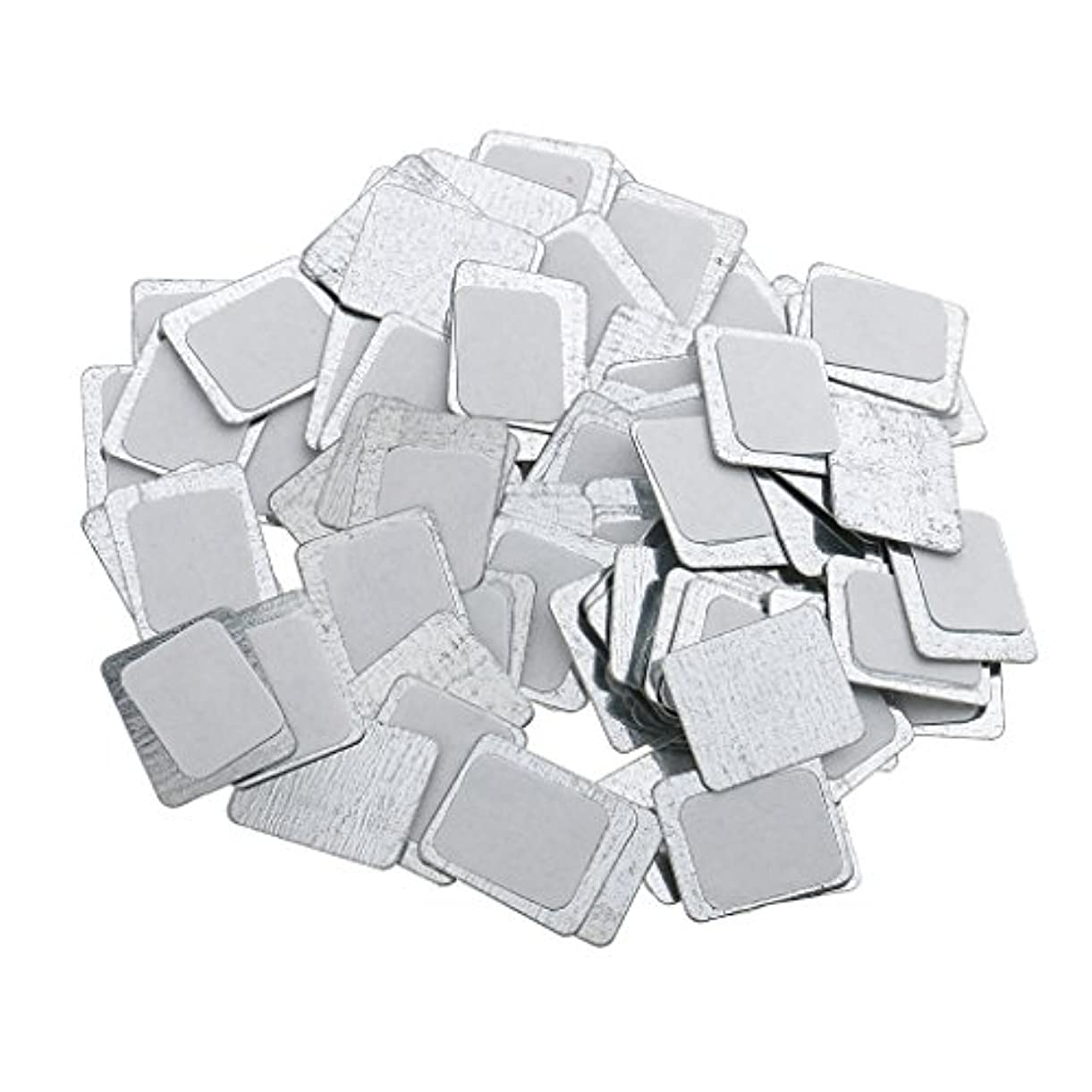 気候靄緊張Kesoto 約100個 メイクアップパン 空パン アイシャドー ブラッシュ メイクアップ 磁気パレットボックスケース 2タイプ選べ - スクエア