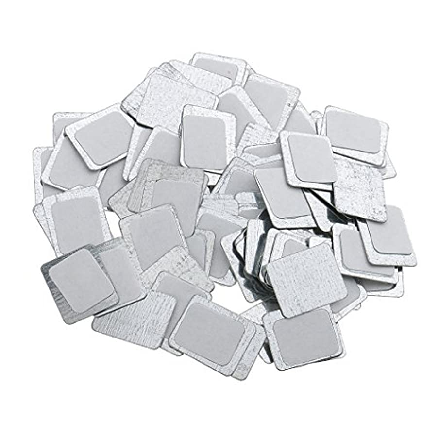 チェスをする透明に指定約100個 メイクアップパン 空パン アイシャドー ブラッシュ メイクアップ 磁気パレットボックスケース 2タイプ選べ - スクエア