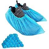 YIBER 靴カバー 使い捨て 100枚入(50足) 不織布シューズカバー フリーサイズ ブール 男女兼用 汚れ 防止 環境にやさしい便利