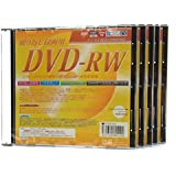 録画用 DVD-RW 繰り返し録画 CPRM対応 5mmケース プリンタブル 5枚セット SET3606