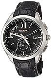 [ブライツ]BRIGHTZ 腕時計 BRIGHTZ ソーラー電波 デュアルタイム チタンモデル ブラック革バンド SAGA251 メンズ