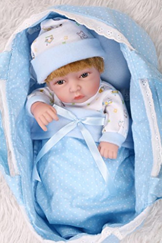 Nicery 生まれ変わった赤ちゃん人形おもちゃハードシミュレーションシリコンビニール11インチ28cm防水おもちゃとギフト Reborn Baby Doll RD28A003BH