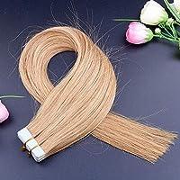 FidgetGear Remyの人間の毛髪延長7A 40cmの継ぎ目が無いPUの皮のよこ糸の方法16インチテープ #16ダークホーンブロンド