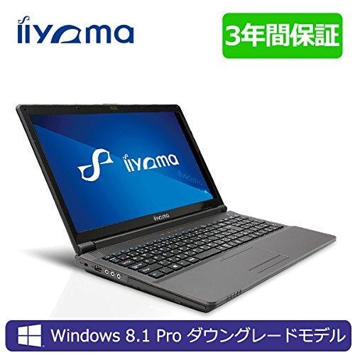 iiyama 3年保証付 15X7100-i7-RSM-DG7P [Windows 7 Pro搭載]15.6型 フルHD液晶&Core i7-4710MQノートパソコン Windows8.1 Proダウングレード