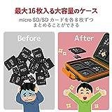 エレコム メモリカードケース SD8枚 MicroSD8枚収納 耐衝撃 カーキ CMC-SDCHD01GN 画像