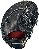 ZETT(ゼット) 硬式野球 ファーストミット プロステイタス SEシリーズ 左投げ用 ブラック (1900) 日本製 専用グラブ袋付き BPROFM03S
