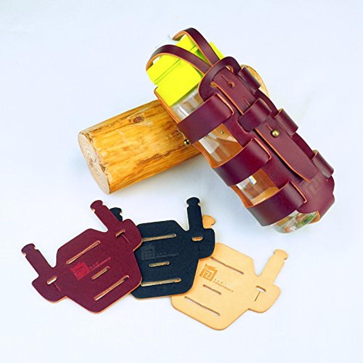泥だらけリゾートラグBottle Cage for Brompton - ローマ連続ボトルホルダー&椅子マウントパッド束-手作りWINE RED色かごとBLACK色パッドを持つイタリア本物の革のため手製である