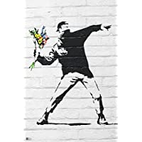 Banksy Poster Throwing Flowers (61cm x 91,5cm)
