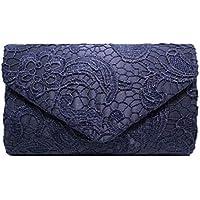 de1a6a5f65 Fanspack Womens Clutch Purse Envelope Lace Evening Handbag Party Wedding  Purse Crossbody Bag with Chain Strap
