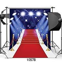 写真撮影のためのGooEoo 10X10FTレッドカーペットステージ背景結婚式の写真撮影のためのデジタル背景カスタマイズされた10578