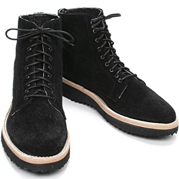 9 Hole Suede Boot: Black