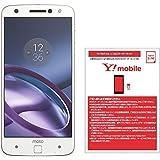 モトローラ スマートフォン Moto Z 64GB ホワイト 国内正規代理店 AP3786AD1J4 & ワイモバイル(Y!mobile) ナノSIM スターターキット