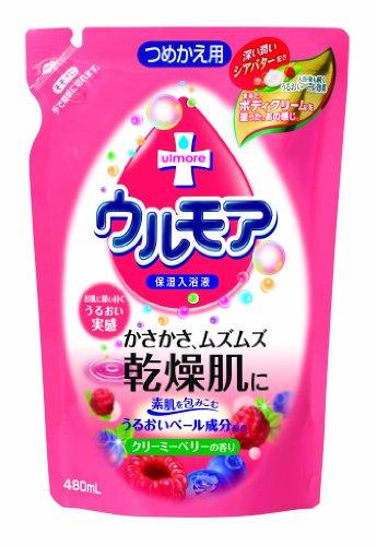 アース製薬 保湿入浴剤ウルモア替えクリーミーベリー480mL