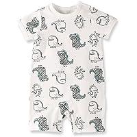 Baby Nest 夏 ベビー服 半袖ロンパース 女の子 男の子 肩ボタン フルプリント コットン ドラゴン-1 18-24M