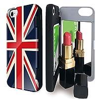 iPhone8 iPhone7 iPhone6 iPhone6s ケース ミラー 付き 旗 ユニオンジャック 国旗 イギリス カードケース かっこいい 世界の国旗 アイフォン8 アイフォン7 アイフォン6 アイフォン6s カバー イギリス国旗 鏡付き iPhoneケース