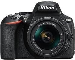 Nikon デジタル一眼レフカメラ D5600 AF-P 18-55 VR レンズキット ブラック D5600LKBK クリーニング クロス付き
