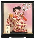 【わらべ人形】浮世・御所 9号 舞寿 ピンク【浮世人形】