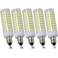 新型 LED電球 E11口金, 可调光 JD 7W 110V E11 LED電球 昼光色, 75Wハロゲンランプ相当 750LM 全方向広配光 水銀灯 蛍光灯 代替( 昼光色,5個入り)