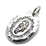 シルバーワン(Silver1)hi シルバー925 金色ココペリ(ナバホ族の精霊) タタキ ペンダントトップ メンズ