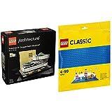 レゴ(LEGO)アーキテクチャー ソロモン・R・グッゲンハイム美術館 21035 & クラシック 基礎板(ブルー) 10714