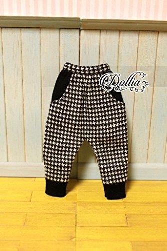 (ドーリア)Dollia ブライス 1/6ドール用 アウトフィット サルエル風 ボトム パンツ 裾 ネオブライス ドール 人形 (千鳥格子柄)