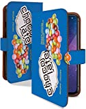 Galaxy S10 SC-03L ケース 手帳型 マーブルチョコ 青 お菓子 チョコ柄 スマホケース ギャラクシーS10 エス10 手帳 カバー GalaxyS10 sc03l sc03lケース sc03lカバー チョコレート チョコ お菓子 チョコ柄 [マーブルチョコ 青/t0755f]