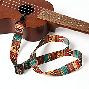 GONKISS ウクレレストラップ ウクレレ ミニギター ストラップ 緑 サウンドホールに引っ掛ける ストラップ フックタイプ 穴開け不要
