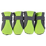 虹屋ペットの靴テディ犬調節可能な靴犬の靴ソフトボトムウェアウォーキングウォーキング犬の靴ケアシューズ