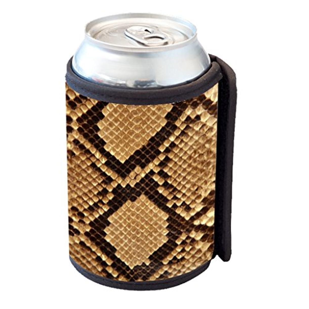 フレア電話をかけるパトロール蛇皮ブラウンパターン – Can Cooler Bottle Hugger