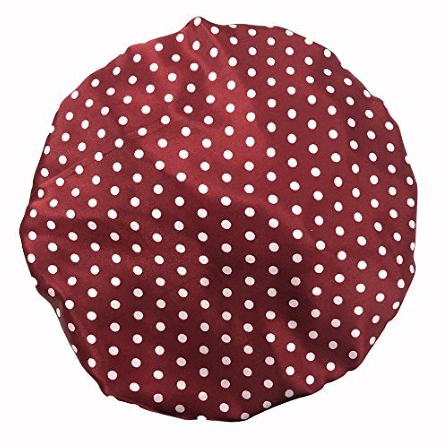 メイン移動ユーザーMaltose 化粧帽 ダブル防水シャワーキャップ ヘアキャップ お風呂上がり バス用品 浴びる 強い防水性 2枚セット