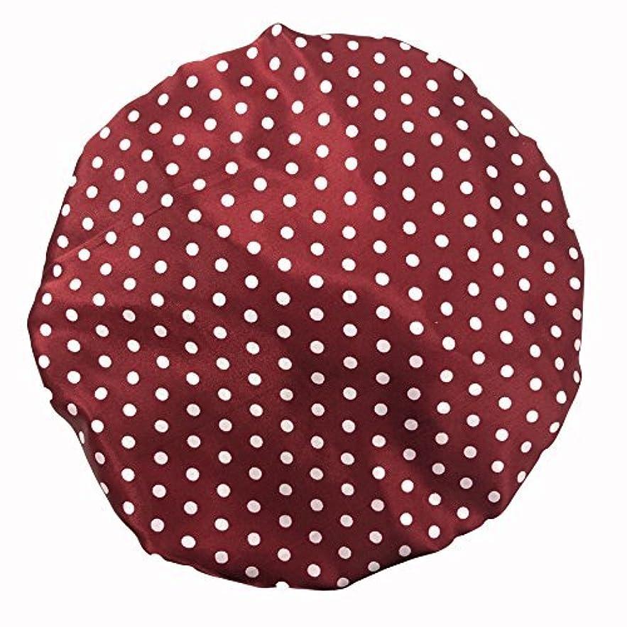 忠誠ブレークスクリューMaltose 化粧帽 ダブル防水シャワーキャップ ヘアキャップ お風呂上がり バス用品 浴びる 強い防水性 2枚セット