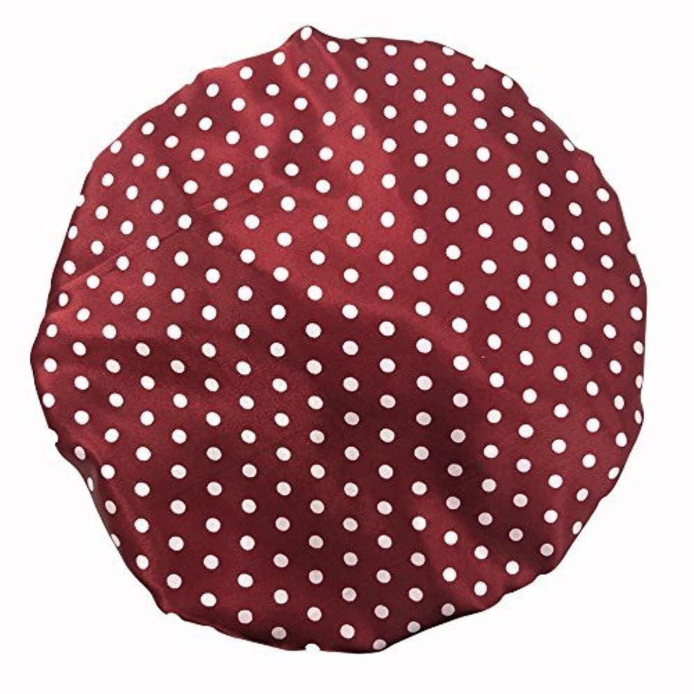 理論相談するファッションMaltose 化粧帽 ダブル防水シャワーキャップ ヘアキャップ お風呂上がり バス用品 浴びる 強い防水性 2枚セット