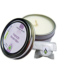 グリーンファイヤーマッサージキャンドル フレンチラベンダーの香り(サイズ:29.6mL)