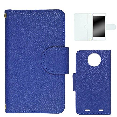 whitenuts Disney Mobile on docomo N-03E ケース 手帳型 レザー風 08 ダークブルー カード収納 ストラップホール WN-OD086804-ML