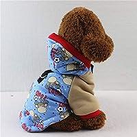 ChenHuis 1ピースファッションペット犬ソフトセーターペット服の厚いキルト冬犬秋と冬のコートパーカー (Color : 3, Size : M)