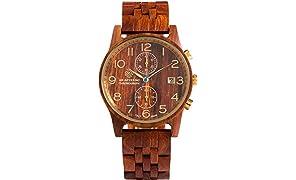 [アバテルノ]AB AETERNO 腕時計 CHRONO COLLECTION ウッド RUBER 9825058 メンズ 【正規輸入品】