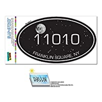 11010 フランクリン平方, NY - Night 空 - 楕円形郵便番号ステッカー