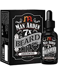 Man Arden 7X Beard Oil 30ml (Unscented) - 7 Premium Oils Blend For Beard Growth & Nourishment