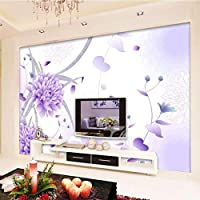 Gyqsouga カスタム壁紙大壁画手作りの花3Dフレームテレビの背景壁3Dの壁紙-420X280cm